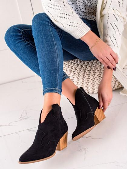 74088 - Lucky shoes gležnarji, piščančki crna barva