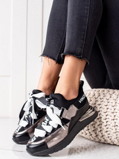 74099 - Vinceza superge, nizki čevlji siva/srebrna barva