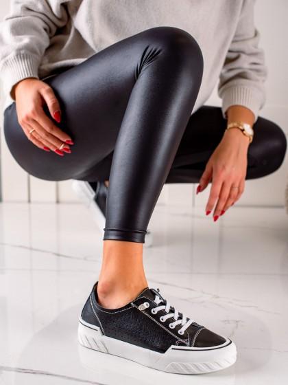 74109 - Vinceza superge, nizki čevlji crna barva