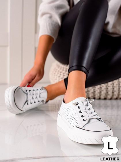 74110 - Vinceza superge, nizki čevlji bela barva