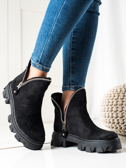 74134 - Sweet shoes gležnarji, piščančki crna barva