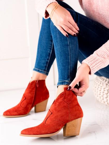 74149 - Lucky shoes gležnarji, piščančki rdeca barva