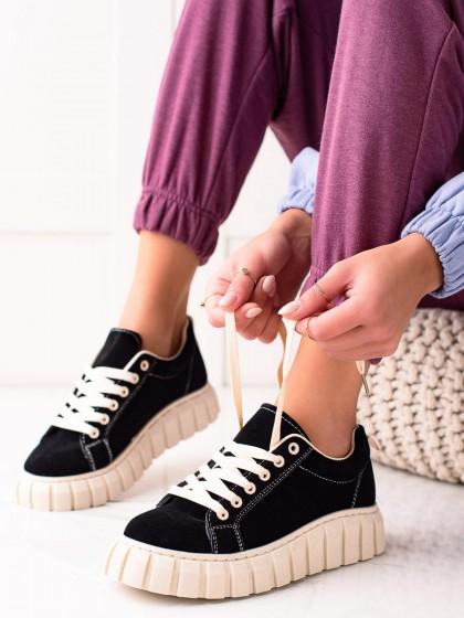 74202 - Sweet shoes superge, nizki čevlji crna barva