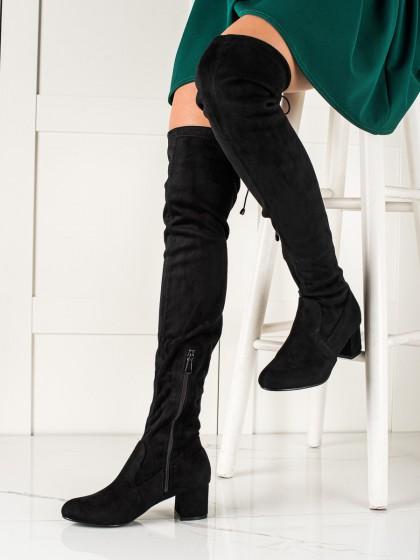 74209 - Renda visoki škornji crna barva