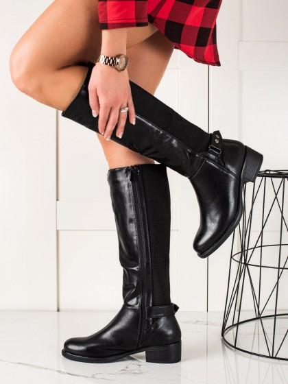 74249 - Small swan visoki škornji crna barva