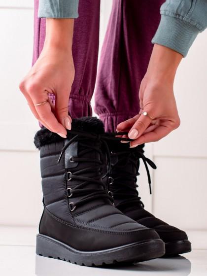 74258 - Vinceza sneg škornji crna barva