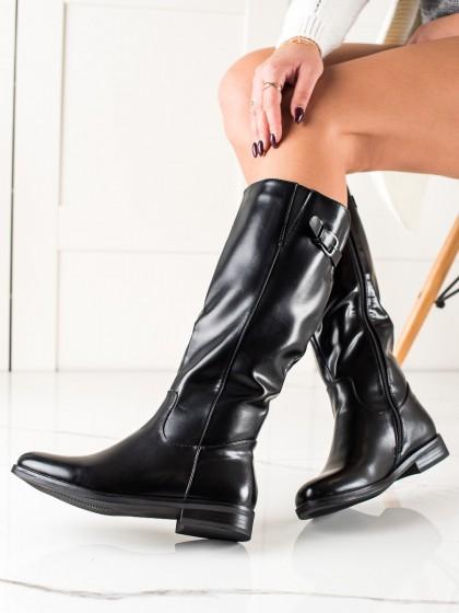 74318 - Clowse visoki škornji crna barva