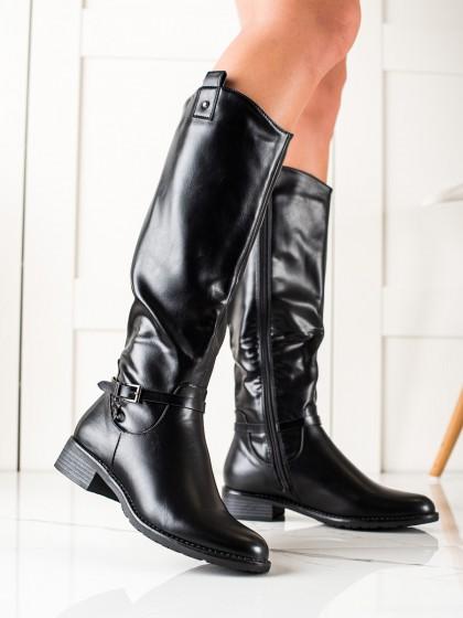 74319 - Clowse visoki škornji crna barva