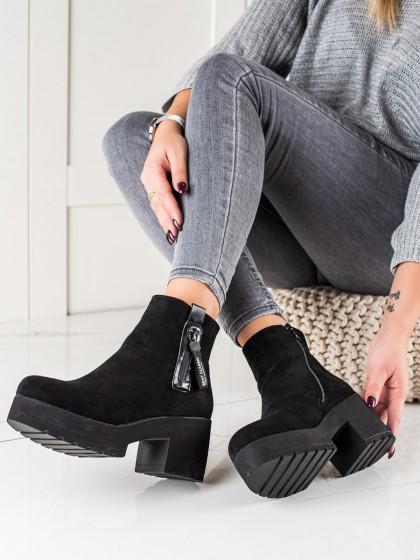74344 - Ideal shoes gležnarji, piščančki crna barva